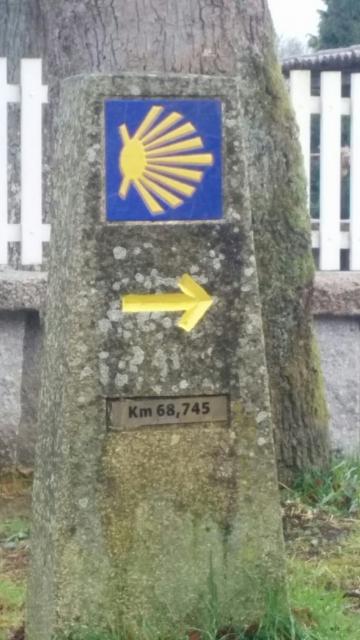 68,745km Negreira 1 etapa hasta Finisterre
