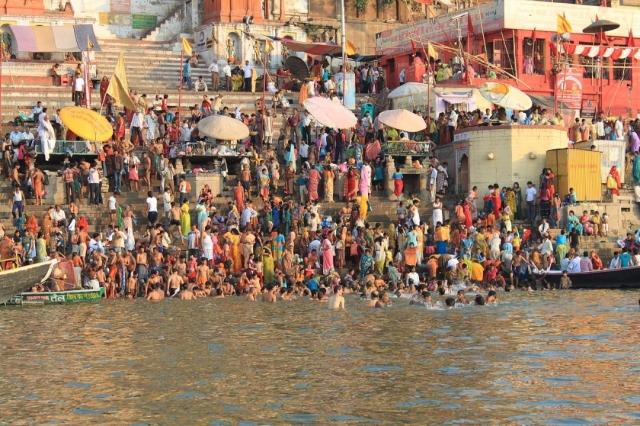Baños en el río Ganges