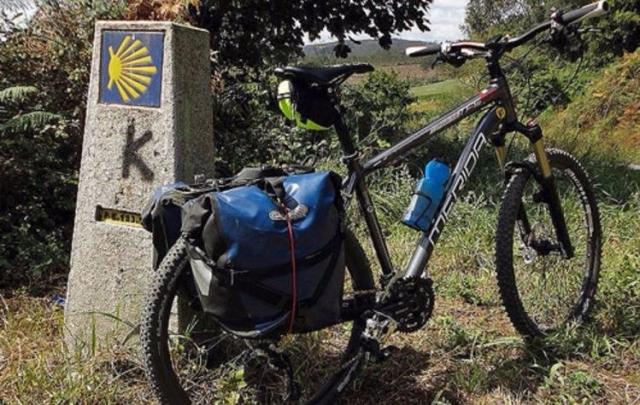 Camiño de Santiago en bicicleta