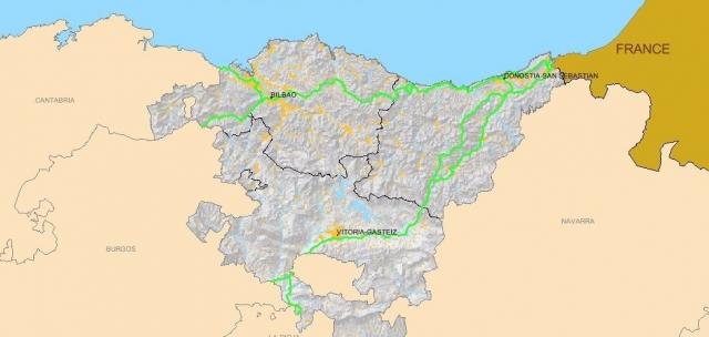 Camiño de Santiago en Euskadi