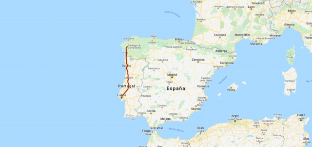 Camino Portugués - My Maps