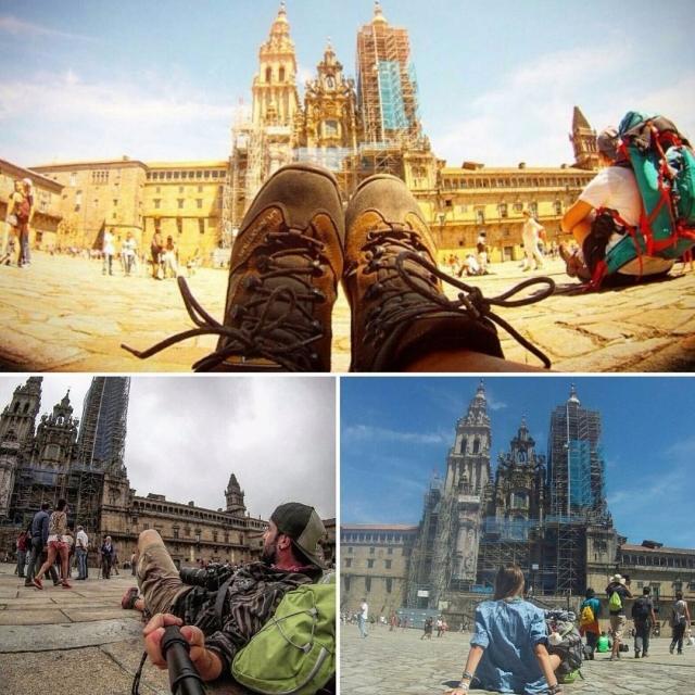 Contemplando la Catedral de Santiago, por @sound_of_sunshine95, @aitorsusa y@mat.chiara_