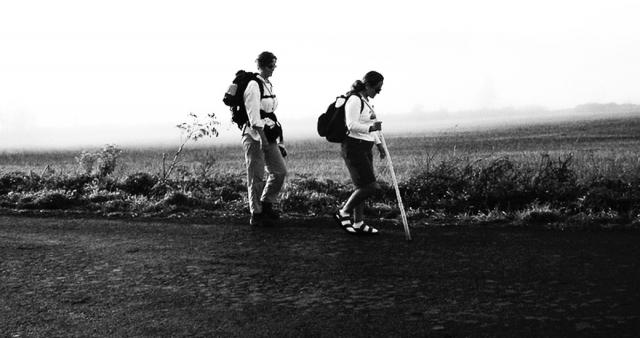 Dos peregrinas en el Camino de Santiago
