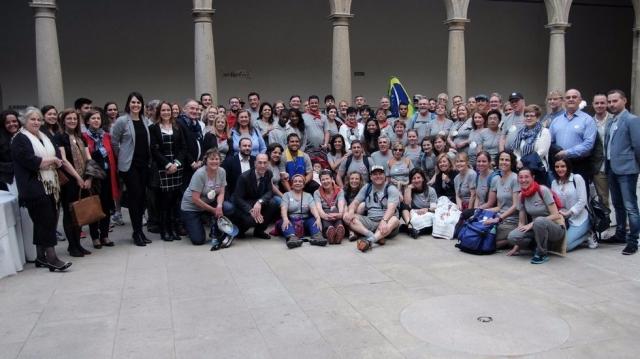 El grupo de peregrinos