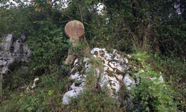 Estela cántabra en el Camino Norte