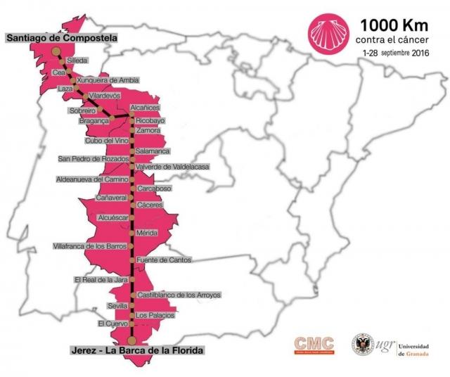 Itinerario 1.000 Km contra el cáncer (Vía de la Plata)