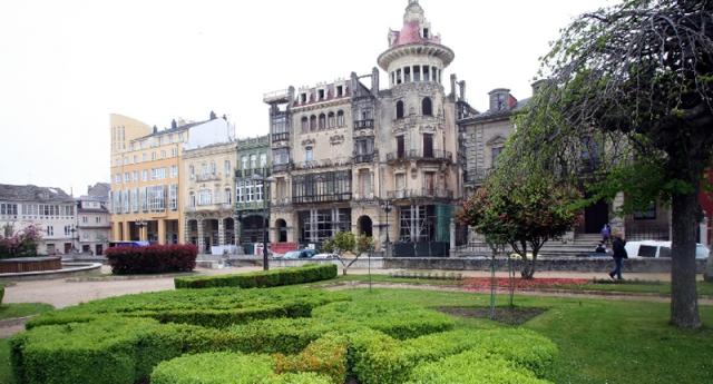 La Torre dos Moreno y los jardines del Cantón