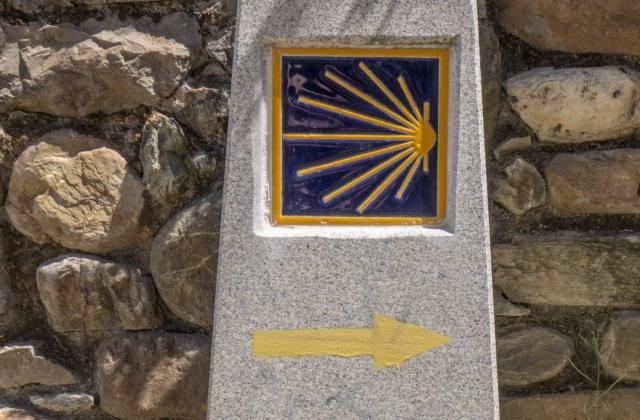 Marcador del Camino de Santiago