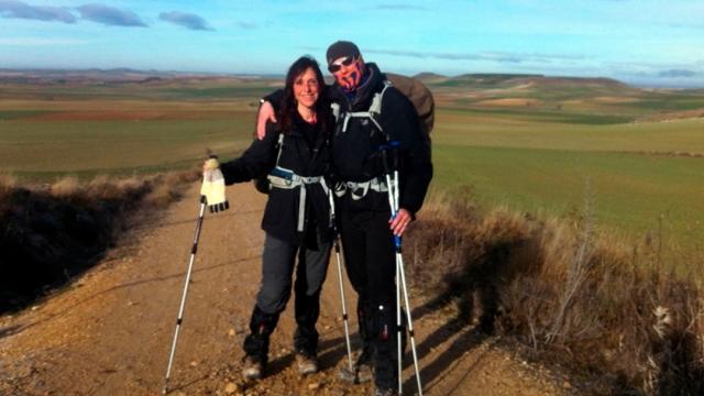 Marco y Laura, peregrinando hasta Santiago de Compostela