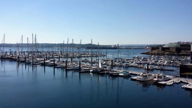 Marina Coruña port
