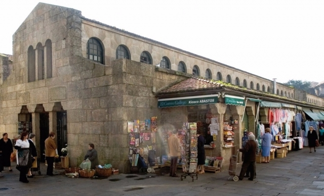 Mercado de Abastos en Santiago de Compostela. Wikimedia Commons