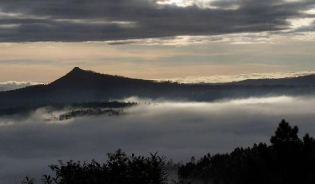 O lexendario Pico Sacro. de resonancias xacobeas, é un dos claros referentes da última etapa