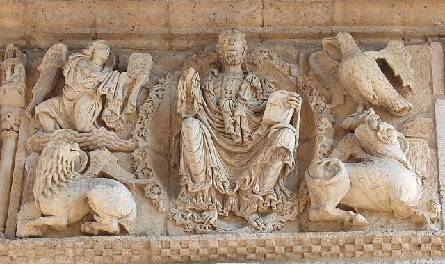 Pantocrátor de la iglesia de Santiago / Foto cedida por la Diputación de Palencia