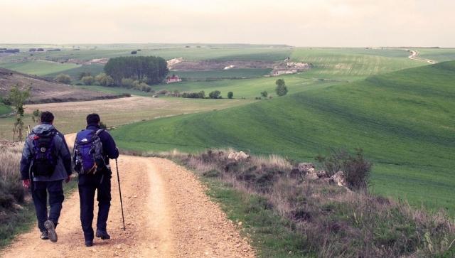 Peregrinos a su paso por Burgos