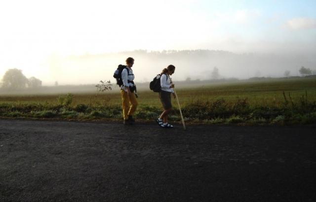 Peregrinos haciendo el Camino
