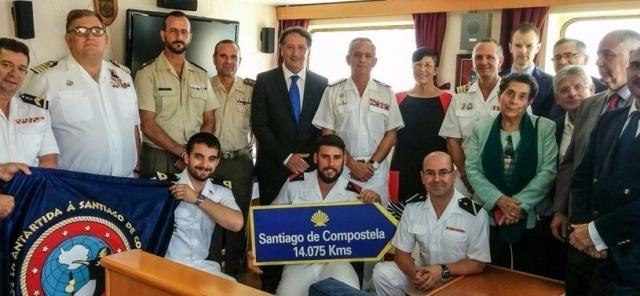 Pilgrims of Spanish Antarctic Base Gabriel de Castilla