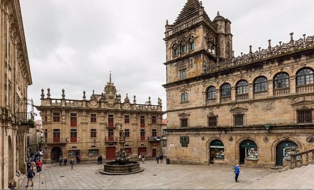 Plaza de Platerías, en Santiago de Compostela. Wikimedia Commons