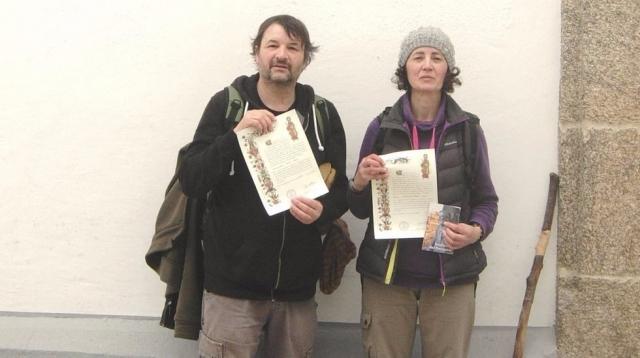 Primeros peregrinos en obtener la compostela desde A Coruña | La Voz de Galicia