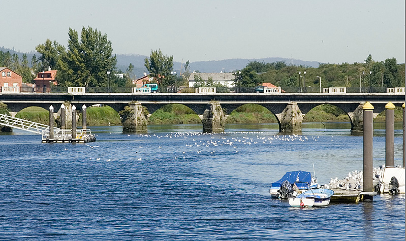 The bridge that separates the provinces of Pontevedra and A Coruña/photograph by Xosé Castro.