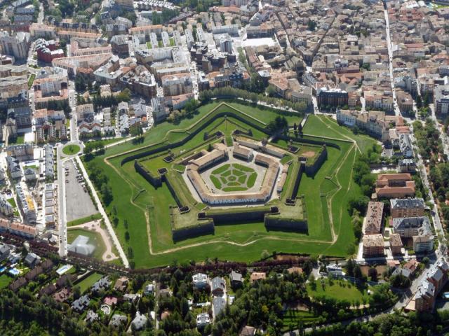 Vista aérea de la Ciudadela de Jaca - Wikicommons