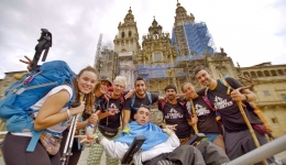 Oliver and his brother Juan Luis, with cerebral palsy, reached to Santiago completing their challenge Camino Sin Límites
